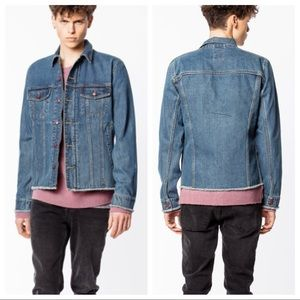 NWT Zadig & Voltaire Base Blue Jean Jacket Large